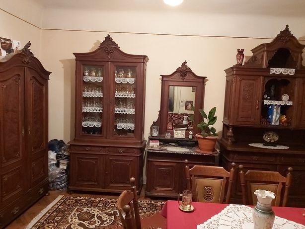 Mobilier/ Mobila Stil baroc antic/ antica, 4 piese,lemn masiv sculptat
