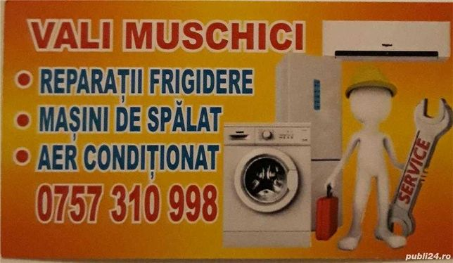 Reparatii frigidere, masini de spalat si instalare aere conditionate.