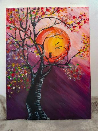 Copacul cu flori/ pictura