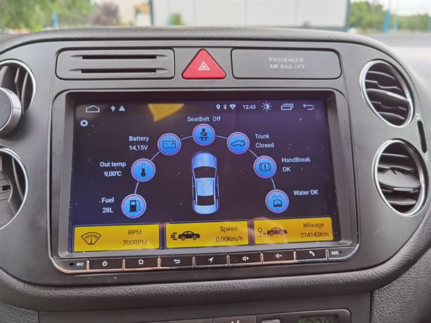 "Navigație 9"" inc Volkswagen Golf Jetta Passat android 10 2gb RAM Skoda"
