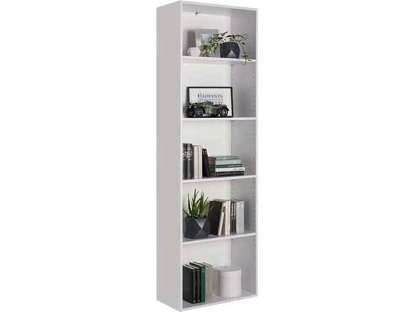 Бяла етажерка-60х32х192 см./Етажерка за книги/Етажерка библиотека