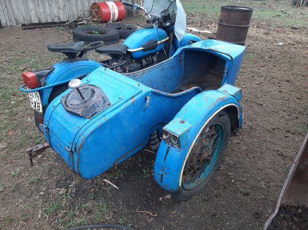 Мотоцикл Урал синий