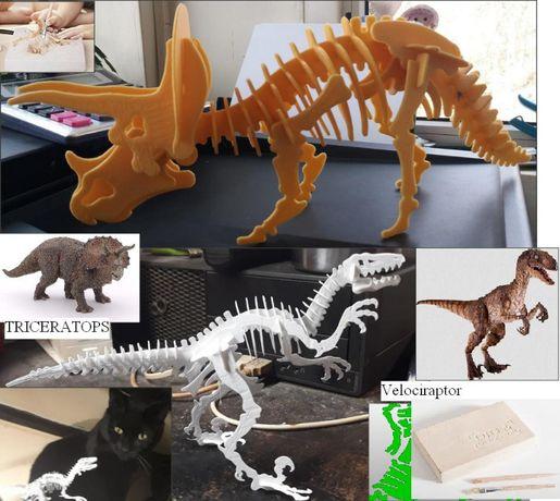 kit 2 in 1 - arheologie+puzzle 3D - dinosauri- excavatie+puzzle
