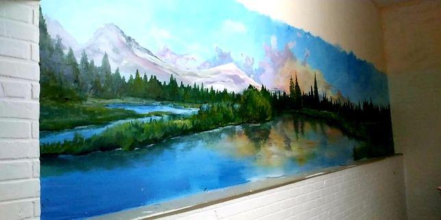 Роспись стен. Художник. Граффити. Оформление стен. Картины. Рисунки