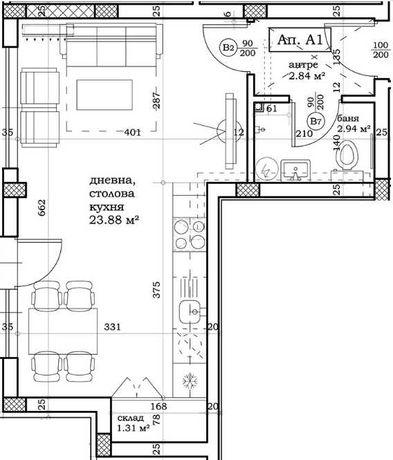 Едностаен апартамент Остромила