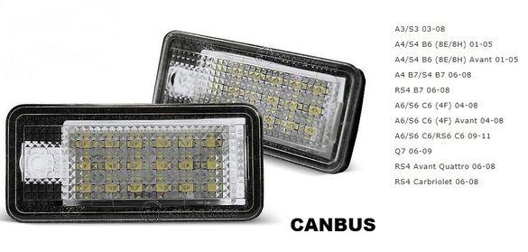 LED плафони за регистрационен номер Ауди Audi S3 A4 S4 B6 S4 B7 A6 C6