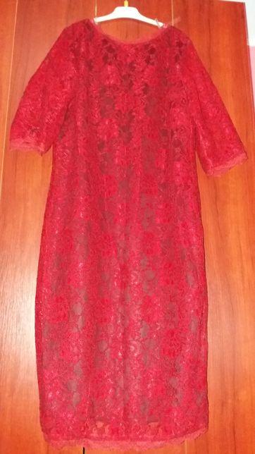 Rochie dantelă roșie