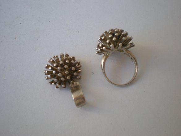 сребърна висулка и пръстен