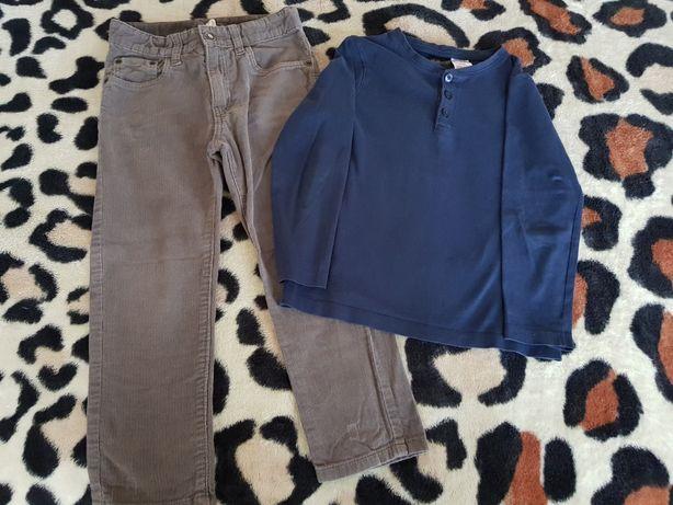 Lot H&M,baieți,pantaloni și bluză,4-6 ani,110-116 cm