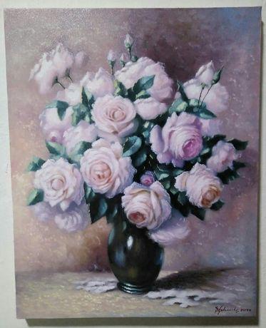 "Tablou ""Trandafiri albi"" - 30x38 cm"
