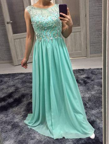 Вечернее платье, цвет березовый