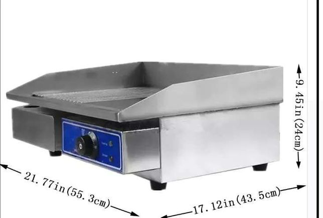 Gratar,grill,plita ,striat,inox 3kw nou sigilat-calitate