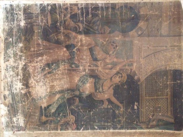 Pânza veche imprimată 100/70 cm Dans