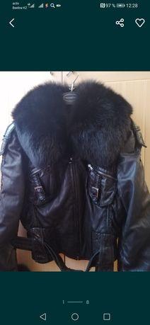 Женская кожаная куртка - косуха бренд Fontani. Италия