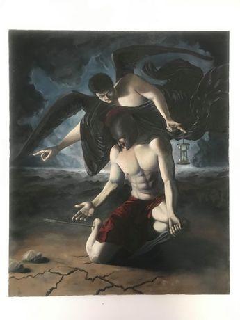 Vand tablou pictat in stil baroc 100x120 cm