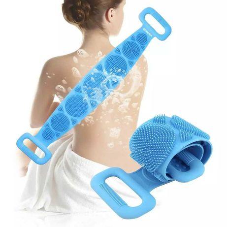 Силиконов масажор за баня- Скръбър за почистване и масаж на гръб