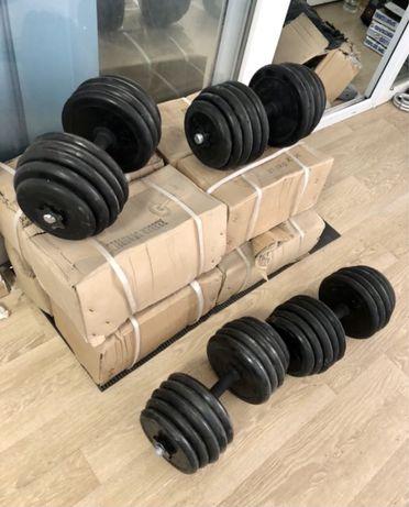 Gantere reglabile cauciucate noi set 30 kg. 15+15 kg=30 kg 250 ron