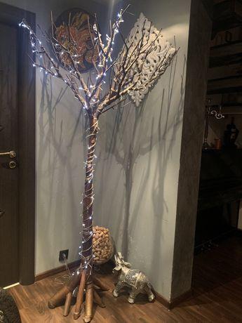 Метално дърво дизайнерско закачалка арт