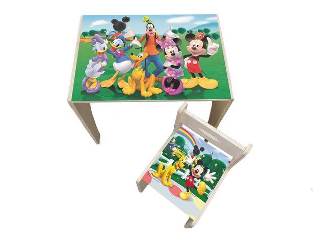 Masute din lemn pentru copii cu personaje