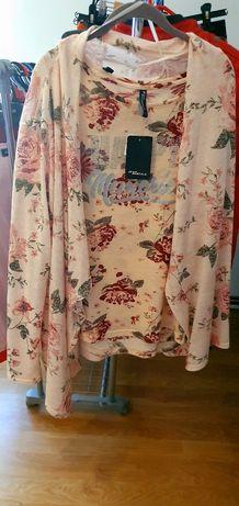 Bluza Takko fasshion plus cardigan ,noi cu eticheta.model floral