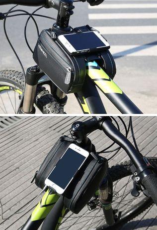 Geanta dubla impermeabila husa rotativa Huawei P9 plus cadru bicicleta