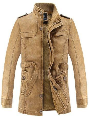 Мъжко зимно кожено яке
