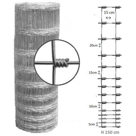 Plasa zincata innodata inaltime 150cm