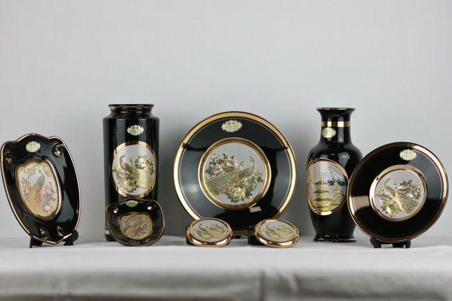 Chokin art japonez original cu aur 24k, argint- set decorativ porțelan