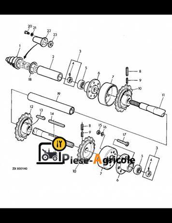 Ax Transportor 35x1773 mm John Deere Z53258, AZ45480, Z57762, Z43932