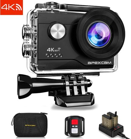 4K Action Camera 16MP Underwater Waterproof Camera 40M 170°Wide-Angle