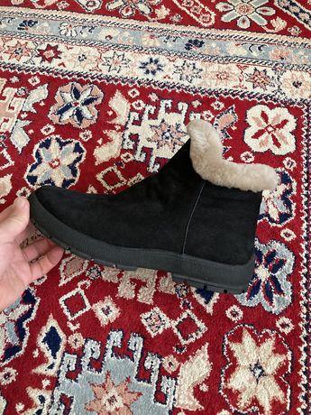 Зимние ботинки, сапоги. Натуральный мех, новые