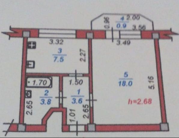 Продам или обменяю одна комнатную квартиру на двух комнатную Кв.