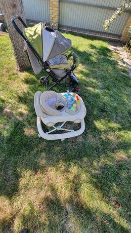 Прогулочная коляска,ходунки.