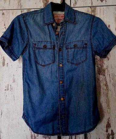 Детска дънкова риза с къс ръкав - Нова