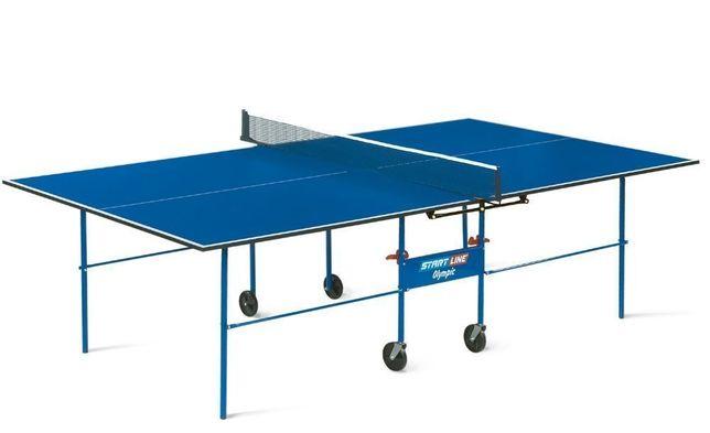 Теннисный стол Start Line Olympic (В подарок сетка)Можно в РАССРОЧКУ