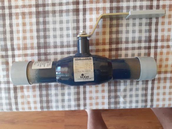 Спирателен кран за вода и пара