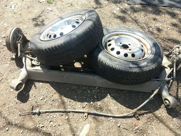 Citroen C3, punte spate completa cu roti, pentru auto sau remorca