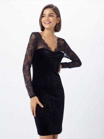 Rochie Only catifea neagra, marimea M, noua