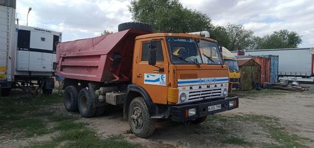 КамАЗ 5511 открывается борт, на ходу