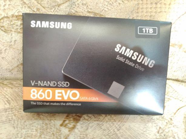Продам Samsung ssd 860 evo, 1 TB, новый!