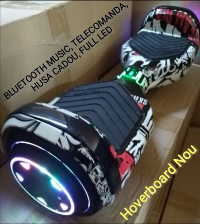 Hoverboard Nou circle Black Led whel