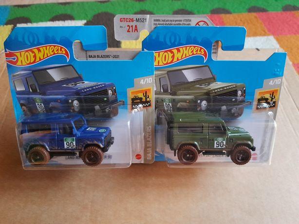 Macheta Hot Wheels Land Rover Defender lot 2 culori de colectie