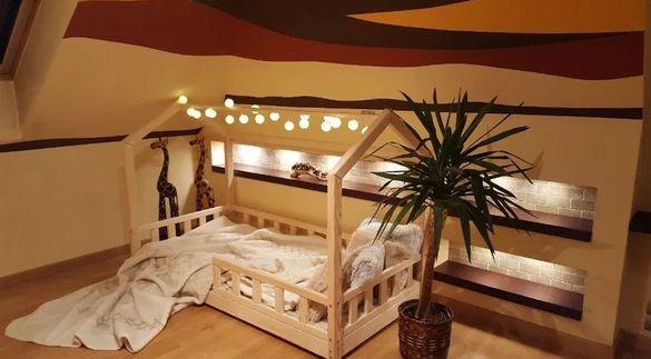 Детско легло с форма на Къщичка Монтесори