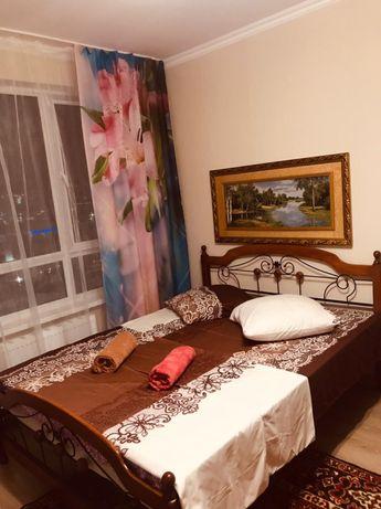Посуточная однокомнатная квартира рядом с ТРЦ ХАНШАТЫР