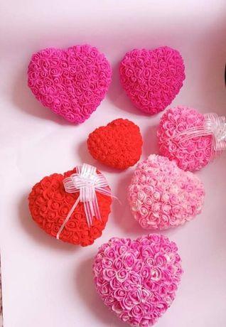 Сърце от рози/сърца/мечета/мече/кутии/rose/bear/Свети Валентин/кутия