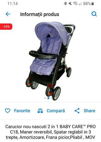 Vând cărucior sport este folosit de câteva ori bebe nu vrea să stea în
