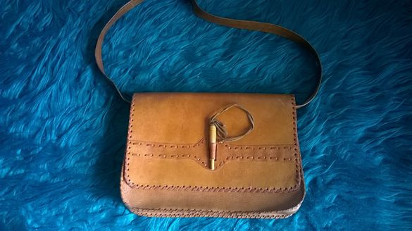 чанта дамска естествена кожа