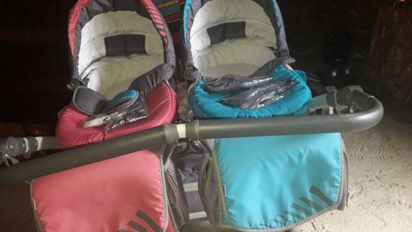 Бебешка количка за близнаци