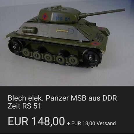 Антикварен немски метален танк RS 51