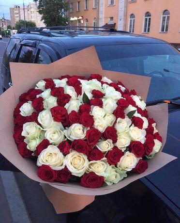 Цветы и розы на заказ Голандия, доставка круглосуточно 101 Роза,букеты